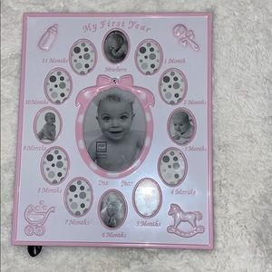 First year baby girl frame